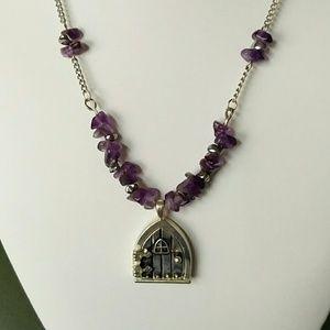 Fairy door pendant necklace